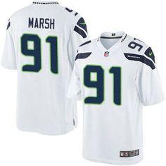 Cassius #Marsh Seattle #Seahawks Men's Limited White #Jersey Nike NFL #91 Road #seahawksjerseys
