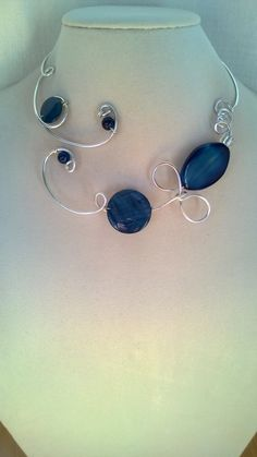 Wedding jewelry  Aluminium wire necklace  par LesBijouxLibellule