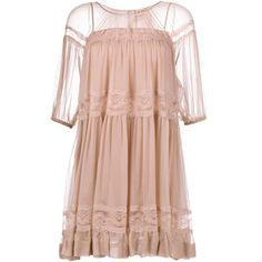 No21 Silk Baby-Doll Dress