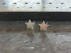 Star Studs Celestial Stud Unique Stud Earrings Small Studs | Etsy Tiny Stud Earrings, Star Earrings, Star Necklace, Unique Earrings, Boho Earrings, Silver Stars, Tiny Star, Minimalist Earrings, Horse Ring