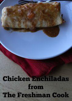 The Freshman Cook: Chicken Enchiladas / #FoodBloggerLove