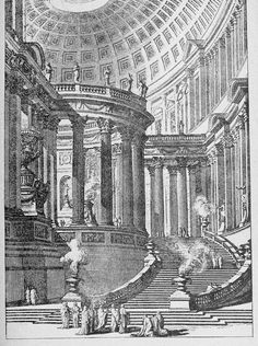 Piranesi's design for a monumental staircase