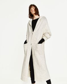 ZARA - WOMAN - LONG HOODED JACKET