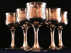 Set Of Silver Plated Goblets