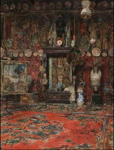The Studio of Marià Fortuny in Rome by Ricardo de Madrazo, 1874.
