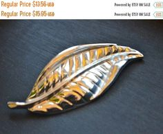 Items similar to Vintage Coro Brooch Designer Leaf Brooch PIn by Coro Vintage Silver Plate Coro Leaf Brooch Pin Textured with Veins on Etsy Vintage Brooches, Vintage Jewelry, Unique Jewelry, Leaf Design, Vintage Silver, Brooch Pin, Silver Plate, I Shop, Plates