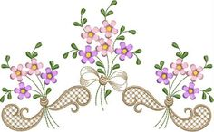 B O R D A D O S E R V I C E: FLORAIS Cutwork, Linen Bedding, Machine Embroidery, Embroidery Designs, Decoupage, Stencils, Cross Stitch, Painting, Decor