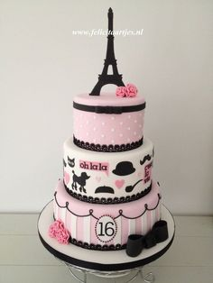 Paris Sweet 16 Cake Sweet 16 cake for my daughter's birthday. Paris Sweet 16 Cake Sweet 16 cake for my daughter's birthday. Paris Birthday Cakes, Paris Themed Cakes, Sweet 16 Birthday Cake, Paris Cakes, Girl Birthday, Sweet 16 Cakes, Cute Cakes, Sweet Sixteen Cakes, Beautiful Cakes