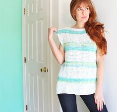Gina Michele: diy paneled tank [knitting pattern]