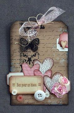 Drunk Scrapbooking Ideen Valentine's Day is taken into account certainly one of my most loved occasions to shar Atc Cards, Card Tags, Gift Tags, Valentine Crafts, Valentine Day Cards, Valentines, Handmade Tags, Paper Tags, Artist Trading Cards