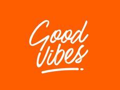 Good Vibes Dream Job, Good Vibes, Logo Design, Neon Signs, Orange, Beauty, Beauty Illustration