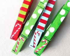 CHRISTMAS CANDY CANES hand painted magnetic by SugarAndPaint