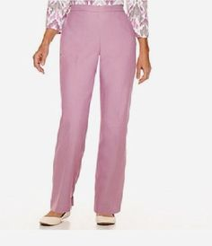 Alfred Dunner Womens Pants Vienna Pull On Polyester Peony Solid size 18 NEW   16.99 https://www.ebay.com/itm/263279268420