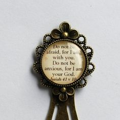 Bible verse bookmark Do not be afraid for I am by TheScottishRebel