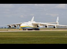 Antonov AN-225 - This hulking strategic cargo plane was designed by the Soviets in the 1980s. It has 32 wheels in its landing gear. It has a wingspan of 290 ft, meaning you could just barely fit it on a football field. It has flown multiple times as well, making it more useful than planes almost it's size.