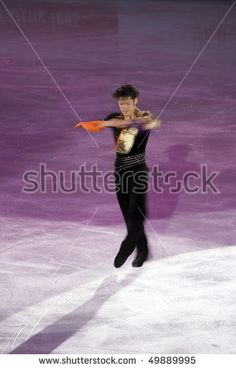TURIN, ITALY - MARCH 28: Professional Japanese skater Daisuke TAKAHASHI performs free skating during the 2010 World Figure Skating Championship Gala  on March 28, 2010 in Turin, Italy.