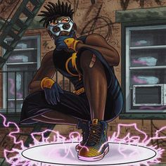 Dope Cartoon Art, Dope Cartoons, Cartoon Kunst, Miles Morales, Black Comics, Dc Comics, Black Lightning Static Shock, Du Dudu E Edu, Black Anime Characters