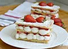 Strawberry and Cream Napoleon Recipe - The Final Product