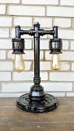 Éclairage/Steampunk industriel lampe/Etsy dons/Edison