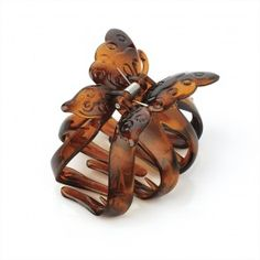 Butterfly Design Tortoise Shell Colour Hair Claw Clip