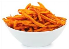 Baked Sweet Potatoes Fries are delicious and now they're more nutritious than ever before when you dip them into Carlson Olive Your Heart Garlic Ketchup. Sweet Potato Oven Fries, Frozen Sweet Potato Fries, Sweet Potato Recipes, Potato Fry, Potato Crisps, Potato Pancakes, Hamburgers, Ketchup, Meals