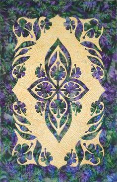 Hawaiian Quilt Delicate appliqué.  Pattern at prqc.com
