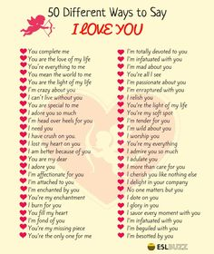 Beautifully Romantic Ways To Say I LOVE YOU ! ESLBuzz Learning English is part of Beautiful words in english - Learn many different ways to say I LOVE YOU in English with pictures English Vocabulary Words, Learn English Words, English Phrases, The Words, Words To Use, Sms Language, English Language Learning, English Tips, English Lessons
