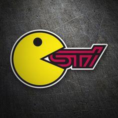 Pegatinas: Pacman Sti #coche #pegatina #sticker