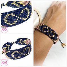 Loom Bracelet Patterns, Bead Loom Bracelets, Bead Loom Patterns, Bracelet Crafts, Beading Patterns, Jewelry Crafts, Bead Embroidery Jewelry, Beaded Jewelry, Handmade Jewelry