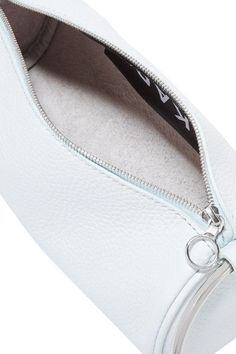 KARA - Duffel Textured-leather Clutch - Sky blue - one size