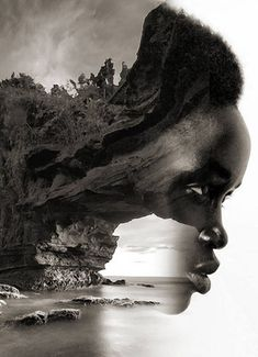 ART: Dreamy Portrait Series by Antonio Mora Spanish-based artist Antonio Mora, also known as mylovt, uses the web to craft his surreal works. He looks through online databases and finds images that he later combines into unconventional portraits. Double Exposure Photography, Art Photography, Creative Photography, Landscape Photography, Photomontage, Exposition Multiple, Montage Photo, Multiple Exposure, Black Artwork