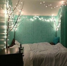 Teal room decor black white and mint green bedroom future home Dream Rooms, Dream Bedroom, Pretty Bedroom, Master Bedroom, Teenage Girl Bedrooms, Girls Bedroom, Hipster Bedrooms, Girl Room, Teal Teen Bedrooms