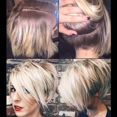 Get hair style inspiration. No matter what your hair type is, we can help you to find the easy hairstyles. Cute Hairstyles For Short Hair, Pixie Hairstyles, Pixie Haircut, Short Hair Cuts, Short Hair Styles, Corte Bob, Haircut And Color, Hair Affair, Great Hair