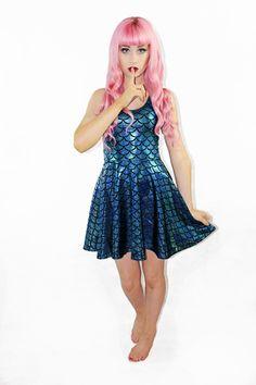Traditional Little Mermaid Skater - Limited Living Dead Clothing, Shining 2, Fantasy Dress, Black Milk, Dressed To Kill, Costume Makeup, Alternative Fashion, The Little Mermaid, Skater Dress