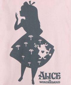 Womens Alice in Wonderland Shadow Alice Shirt