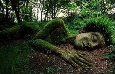"""The """"Grass Lady"""" from Heligan Gardens, Cornwall, England"""