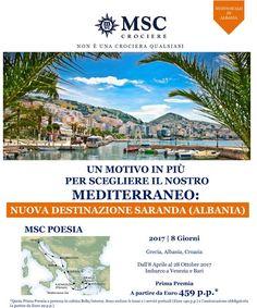 JLAND TRAVEL: MEDITERRANEO CON MSC, NUOVA DESTINAZIONE: SARANDA!...