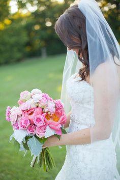 Bright and beautiful pink bouquet #cedarwoodweddings Cedarwood Country Music Destination Wedding | Cedarwood Weddings