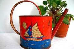vintage child's watering can - Google Search