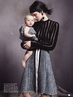 Ashleigh Good & Emily are the model family for Vogue Australia August 2015 by Nicole Bentley Edgy Photography, Fashion Photography Inspiration, Mother Daughter Photos, Mom Daughter, Mother Baby Photography, Children Photography, Vogue Australia, Mother And Baby, Mom And Baby