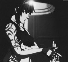 Revy - Black Lagoon Revy Black Lagoon, Black Lagoon Anime, Badass Aesthetic, Aesthetic Gif, Cute Anime Character, Character Art, Edge Of The Empire, Martial Arts Techniques, Overwatch Fan Art