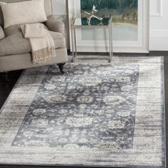 Shop for Safavieh Vintage Dark Grey/ Cream Rug (9' x 12'). Get free shipping at Overstock.com - Your Online Home Decor Outlet Store! Get 5% in rewards with Club O!