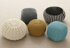 Knitted accessories are getting bolder, with huge chunky cable-knits being a top home interior trend this season. It's a good job we have these gorgeous knitted pods from Next ;)