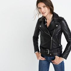 Inspired by old-school biker style (and some boyfriends past and present), our…