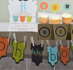 Baby boy shower party package baby shower invitation by Robin519, $85.00