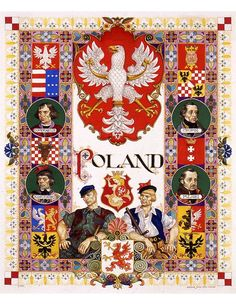 Animated history of Poland in 10 minutes - and the magnificent posters and caricatures of Arthur Szyk (vintage WWII): Poland Culture, Poland History, Polish Language, Visit Poland, Polish Folk Art, Poland Travel, Thinking Day, Arte Popular, Central Europe