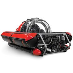 """The Five Person Exploration Submarine - This is the five-person submersible that can descend to a depth of 656' for accessing reefs, wrecks, and rare underwater species. It keeps all explorers safe inside a climate-controlled 3 1/4""""-thick acrylic pressure sphere that enables conversation, unlike SCUBA diving. - Hammacher Schlemmer"""