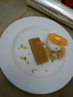 Olive pudding #crumble      #limoncurd #limonicecream
