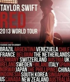 IM GOING TO A TAYLOR SWIFT CONCERT!!! VVN Modern: Taylor Swift Announces the Red Tour