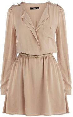 Military Viscose Dress - Lyst